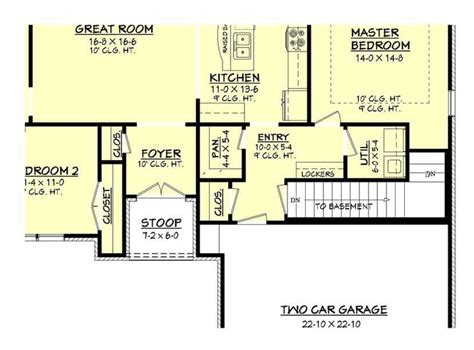 1600 square feet 3 bedrooms 2 batrooms 2 parking space european style house plan 3 beds 2 baths 1600 sq ft plan