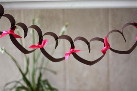 Of Hearts Decoration Ideas by Paper Hearts S Day Chain Decoration