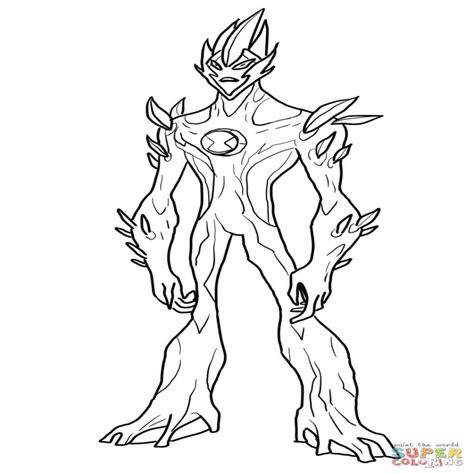 Dibujo De Fuego Pantanoso De Ben 10 Fuerza Alien??gena