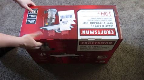 Craftsman Router And Router Table Combo by Unboxing Of Craftsman Router And Router Table Combo