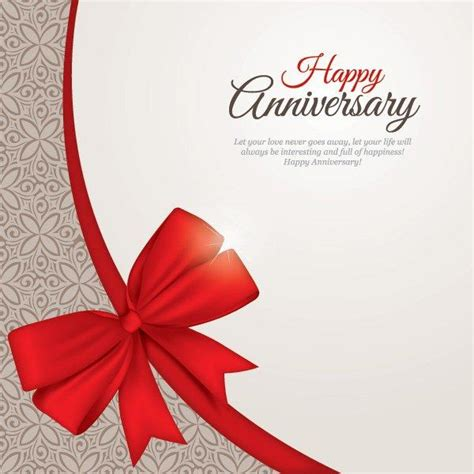 minimal wedding anniversary cards templates happy anniversary greeting card template vector