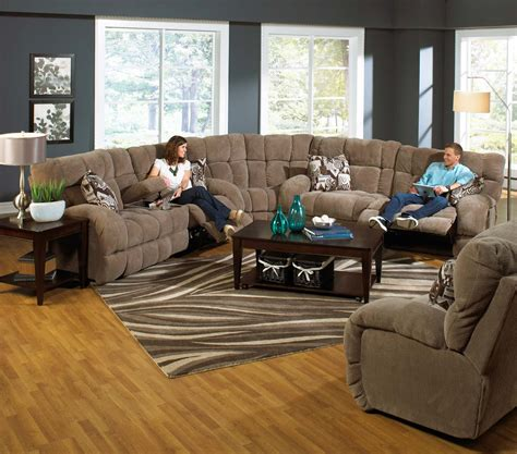 Catnapper Sectional Sofa Catnapper Siesta Lay Flat Reclining Sectional Sofa Set A Porcini Cn 1761 Siesta Sect Set 1