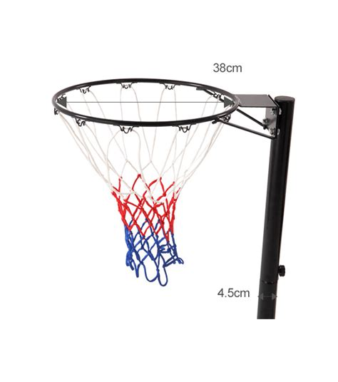 standard l post size basketball stand hoop system portable pole height