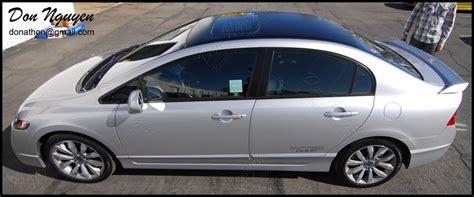 honda civic car wrap honda civic si sedan matte black roof vinyl car wrap
