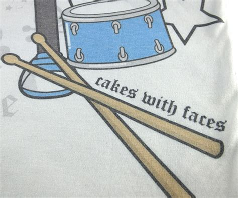 Drum Rock On Tshirt rock live t shirt cakes with faces