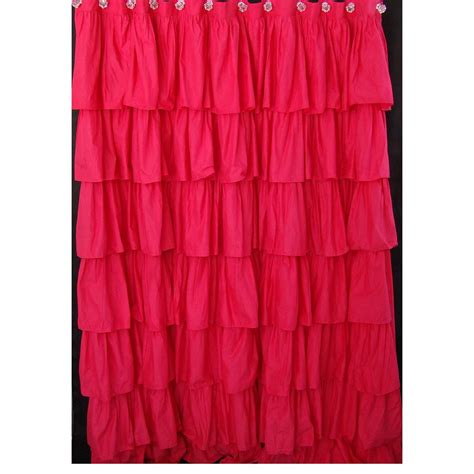 pink ruffle shower curtain ruched bedding rosette bedding ruffled shower curtains