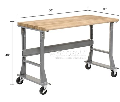 mobile work benches mobile work bench fixed height 60 quot w x 30 quot d mobile