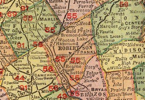 robertson county texas map robertson county txgenweb