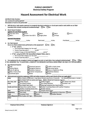 energized electrical work permit template safety analysis exles forms and templates