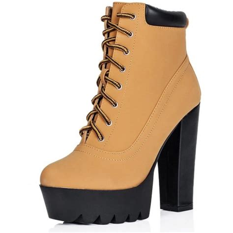 rugged ankle boots buy rugged block heel cleated sole platform ankle boots nubuck leather style