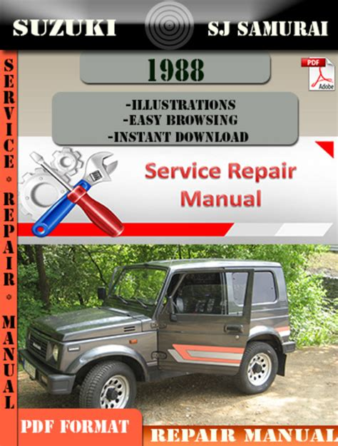 suzuki samurai 1986 1988 service repair manual pdf service manual pdf 1988 suzuki sj transmission service repair manuals 1986 1988 suzuki