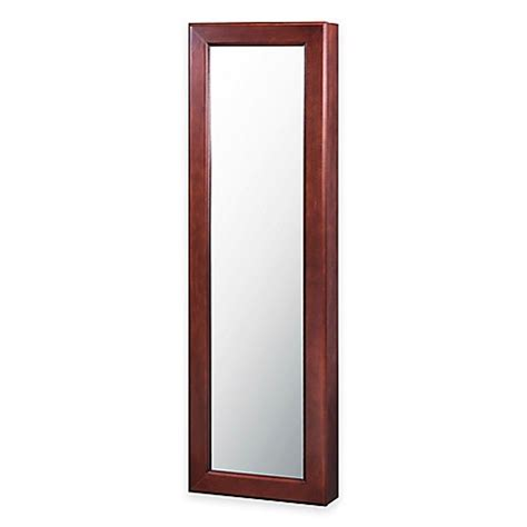 wall jewelry armoire mirror buy wall mounted jewelry armoire with mirror from bed bath