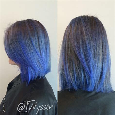 how to fade hair color indigo blue color fade hair colors ideas