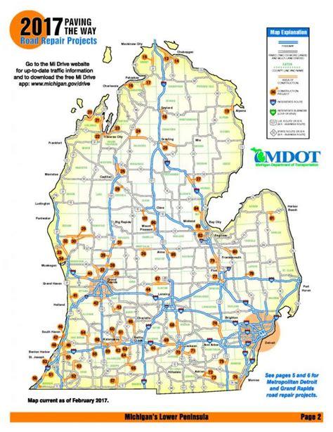 mdot construction map michigan road construction map my
