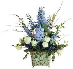 Bright Kids Rugs Delphinium Snowball In Blue Tin Flower Arrangement