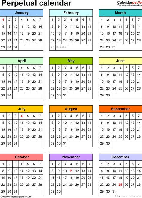 excel calendar year   glance excel calendar templates