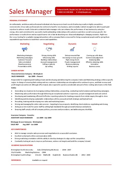 Assistant Sales Manager Sle Resume by Personal Statement For Sales Manager 100 Original Papers Attractionsxpress