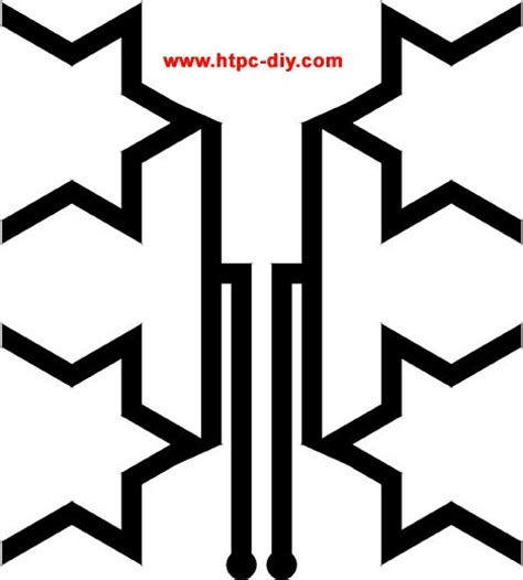 hdtv antenna template diy fractal window hdtv antenna diy