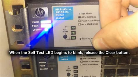 reset hp 2520 switch to factory defaults how to reset hp procurve 1810g 24 switch to factory