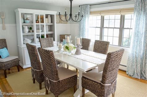 coastal dining room dining room makeover coastal four generations one roof