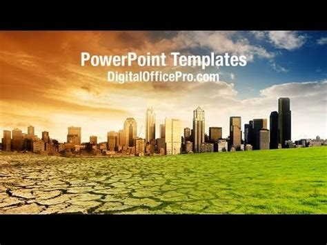 global warming concept powerpoint template backgrounds