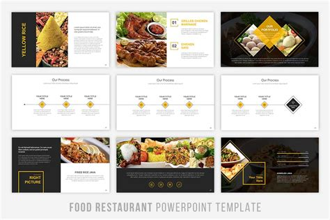 templates powerpoint restaurant food presentation powerpoint by brandearth thehungryjpeg com