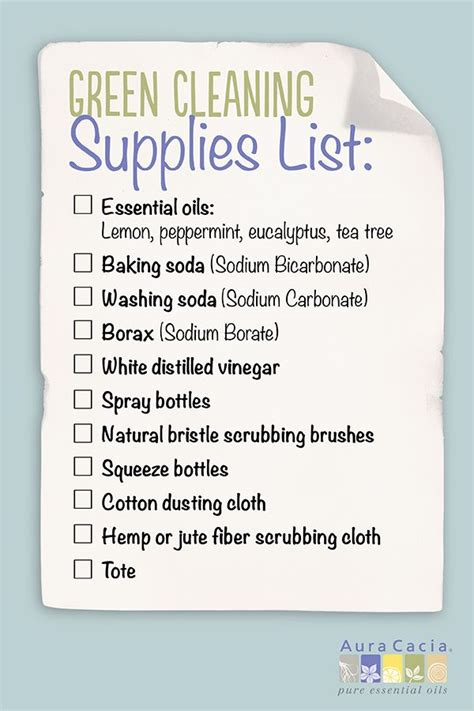 cleaning supplies checklist green cleaning supplies list revive your space