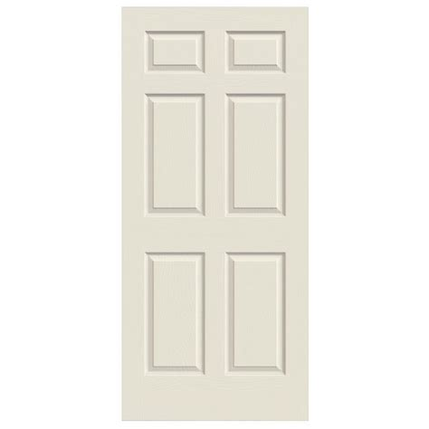 Six Panel Solid Wood Interior Doors Shop Reliabilt Colonist Hollow Core Molded Composite Slab