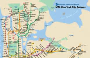 A Map Of New York City by New York City Subway Map New York Ny Mappery