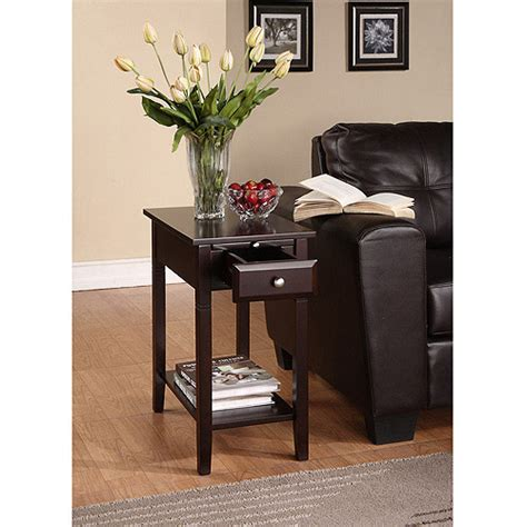 recliner side table new visions by lane easton recliner side table walmart com