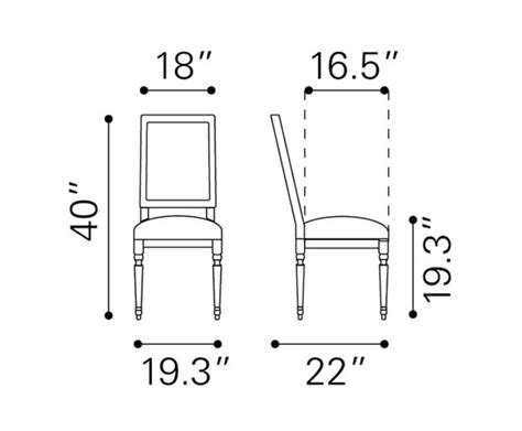 dining room chair dimensions cole valley dining chair