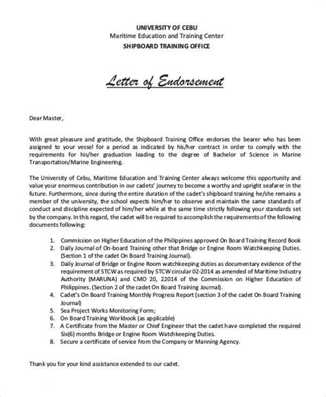 Endorsement Letter From Governor 22 endorsement letter sles templates pdf doc