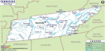 us map tennessee buy tennessee river map