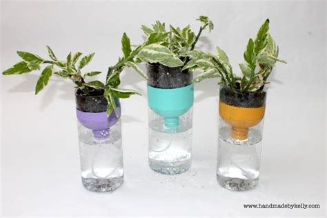 recycled  watering water bottle garden craft