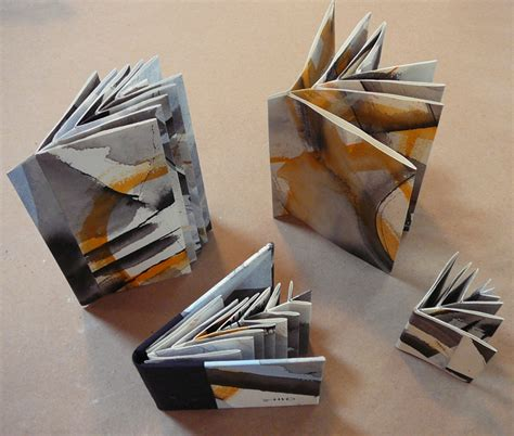 Handcrafted Books - handmade books variation on hedi kyle s fishbone fold