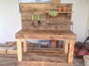 potting bench pallets ideas designs diy potting bench made with
