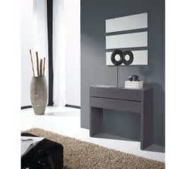 Formidable Meuble Entree Blanc Laque #3: console-gris-entree-miroir-155-40.jpg