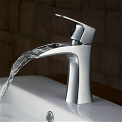 sink taps bathroom waterfall bathroom sink tap chrome finish t0556 t0556