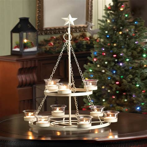 white tree chandelier christmas holiday accent hangs