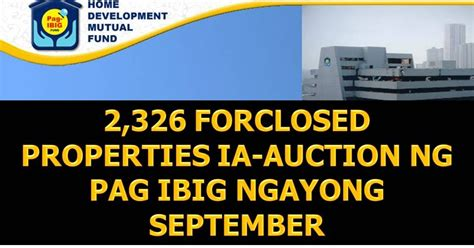 pag ibig housing loan foreclosed pag ibig foreclosed house and lot auction schedules september 2016