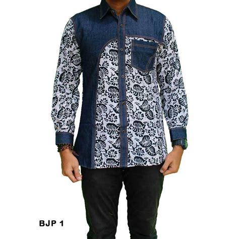 Batik Kemeja Pria Lengan Pendek Keren 1 batik pria denim kombinasi lengan panjang bjp 1 batik prasetyo