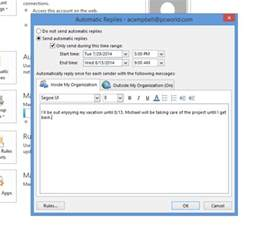 use outlook s auto reply features to free your vacation