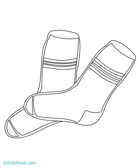 Pair Of Socks Coloring Coloring Pages Socks Coloring Pages