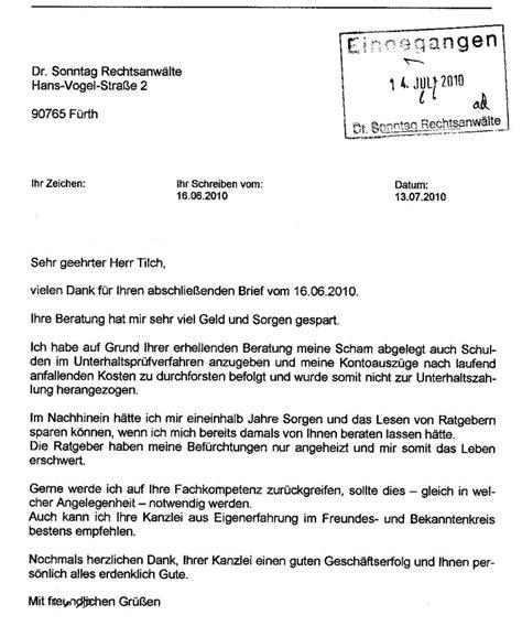 Anwalt K Ndigen Brief Mandanten Meinungen Kanzlei Dr Sonntag