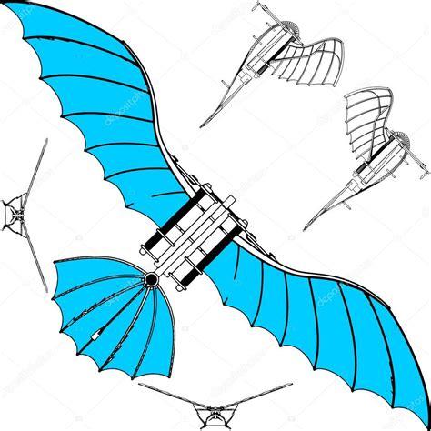 macchine volanti leonardo macchina volante vettoriale deltaplano leonardo