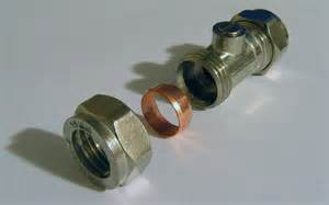 file compression fitting isolating valve 15mm screwdriver