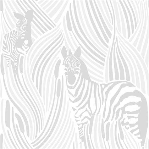 Zebra Wallpaper 5143 by Piilossa By Vallila White Wallpaper Direct