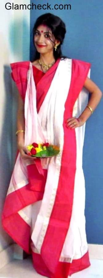 How To Drape Saree In Different Style Indian Youtuber Presents Durga Puja Traditional Bengali Look
