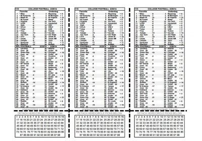 Nfl Parlay Card Template by Perforated Paper 2 Or 3 Card Per Sheet Options