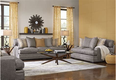 rooms to go living room sectionals cindy crawford home palm springs gray 7 pc living room
